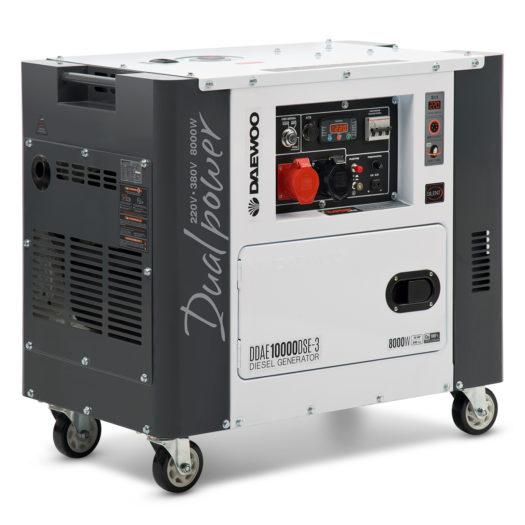 Agregat prądotwórczy diesel DAEWOO DDAE 10000DSE-3 (dual 380 V / 230 V)